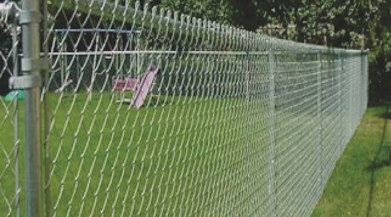Chain link fences come in a variety of styles and colors, or you can stay with the aluminum metal look. Chain link is very affordable and provides lots of security to any property.